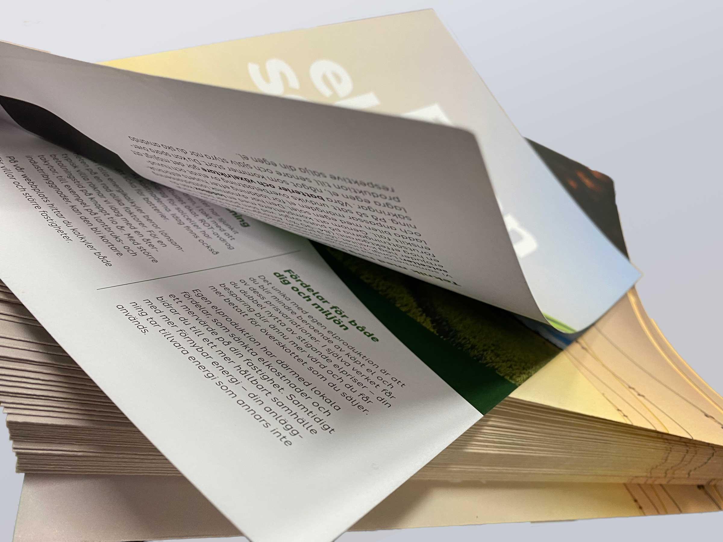 trycka folder